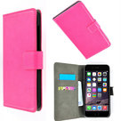 Slim-wallet-book-case-flip-hoesje-Apple-iPhone-6--hoesje-Wallet-Book-Case-cover-Slim-Roze