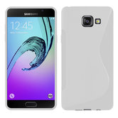 Samsung,galaxy,A9,2016,hoesje,silicone,case,wit