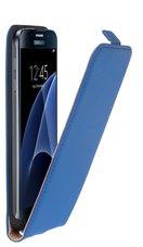 Samsung-Galaxy-S7-Leder-Flip-case-hoesje-blauw