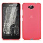 Microsoft,lumia,650,hoesje,silicone,case,roze