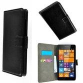 Microsoft,lumia,650,smartphone,hoesje,wallet,bookcase,zwart