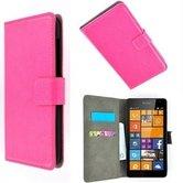 Microsoft,lumia,650,smartphone,hoesje,wallet,bookcase,roze
