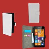 Microsoft,lumia,650,smartphone,hoesje,wallet,bookcase,wit