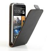 HTC-One-S9-smartphone-hoesje-lederlook-flip-case-zwart