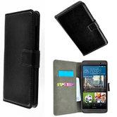 HTC One S9 smartphone wallet book style case zwart