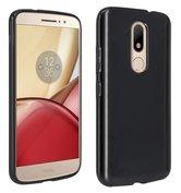 Motorola-Moto-M-smartphone-hoesje-tpu-siliconen-case-zwart